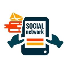 social network icon vector image vector image