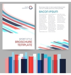 Sport Style Brochure Template vector image