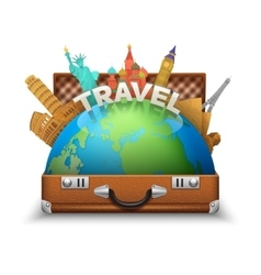 Tourist Suitcase vector image vector image