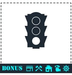 Traffic light icon flat vector image