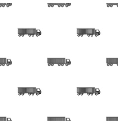 Truck delivery icon in black style isolated on vector