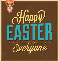 Typographic easter card vector