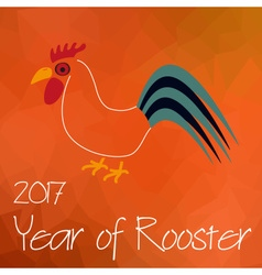 Year of rooster chinese calendar symbol on vector