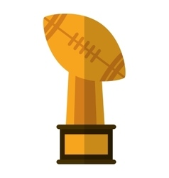 Isolated trophy of american football design vector image
