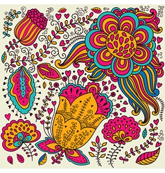 Vivid floral design vector image