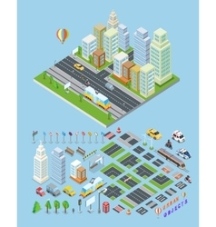 City landscape urban objects vector
