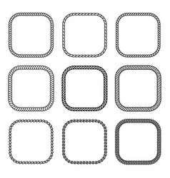 Rope set of square frames collection of thick and vector