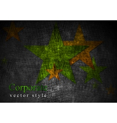 Grunge stras design vector image