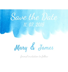 Save the date with watercolor background vector