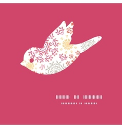 Folk floral circles abstract bird vector