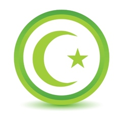 Green islam icon vector