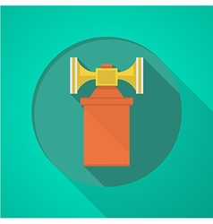 Orange air horn flat icon vector