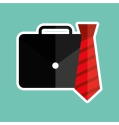Portfolio and tie design vector