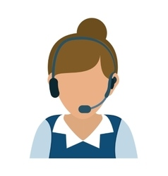 Operator woman avatar customer service vector