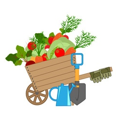 Harvest of fresh vegetables vector