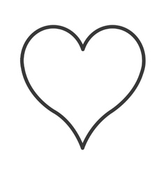 cartoon heart icon vector image