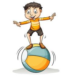 A boy on the ball vector
