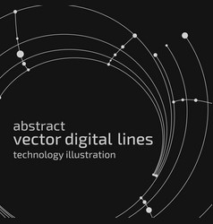 Abstract digital lines vector