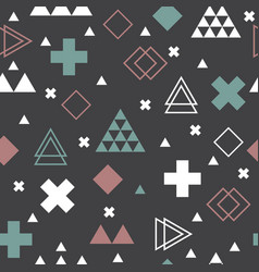 abstract tribal background geometric scandinavian vector image vector image