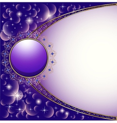 background with gold circle and ornam vector image