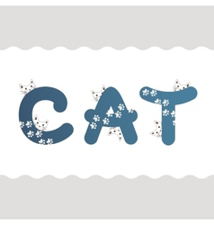 Cat letters vector image