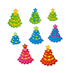 Childish cute christmas tree kid style little vector