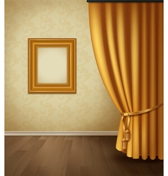 Classical Curtain Interior vector image vector image