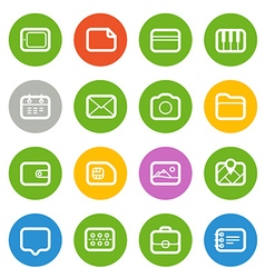 Different web icons set isolated on white flat vector