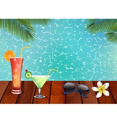 Enjoy the juice on the wooden vector image vector image