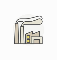 Factory colorful icon vector