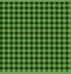 Green lumberjack seamless pattern vector