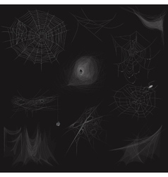 High quality set of spider web concept vector