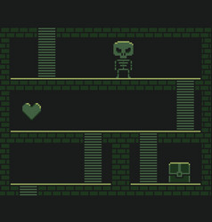 Pixel art dungeon vector
