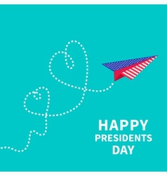Presidents day background paper plane two dash vector