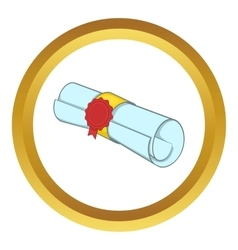 Roll of paper icon vector image vector image