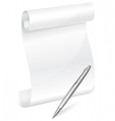 Scroll and pen vector