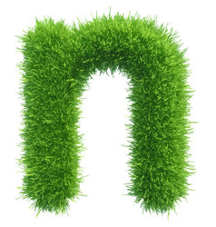 Small grass letter n on white background vector