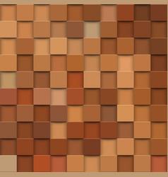 Square mosaic 3d vintage colorful texture vector