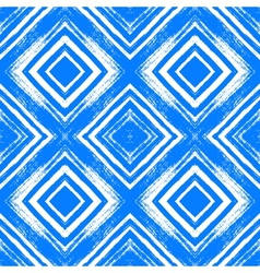 Vintage checked pattern with brushed lines vector image