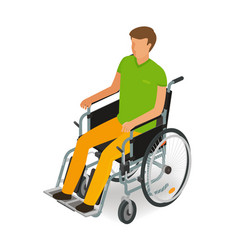 Wheelchair user disabled handicapped people icon vector