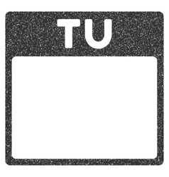 Tuesday calendar page grainy texture icon vector