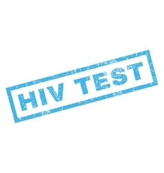 Hiv test rubber stamp vector