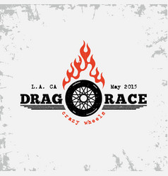 drag race label vector image