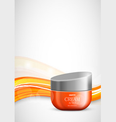 Skin moisturizer cosmetic light design template vector