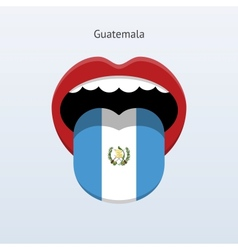 Guatemala language abstract human tongue vector