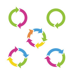 Colorful cycle arrows vector