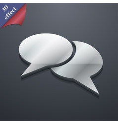 Speech bubble icon symbol 3d style trendy modern vector