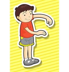 Boy standing vector image