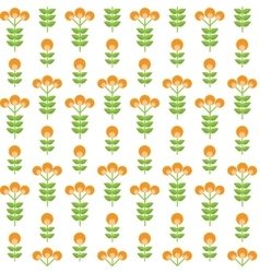 Paper trendy flat flower seamless pattern vector