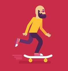 Male character in flat style vector